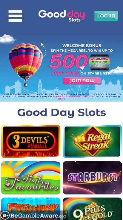 Good day slots home page