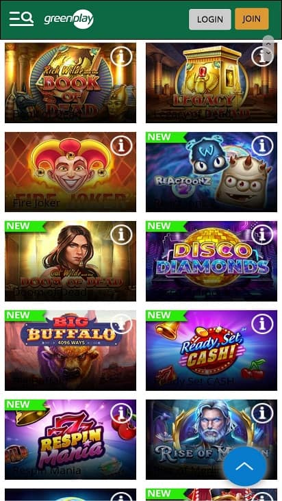 Green play games page