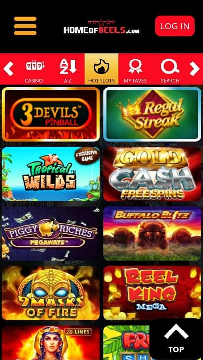 Home of reels games page