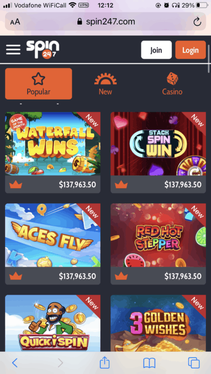 spin247 mobile games