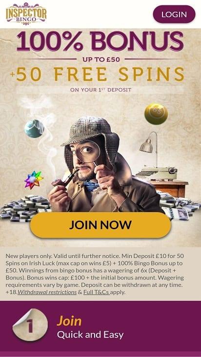 Inspector bingo home page