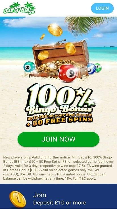 Isle of bingo home page