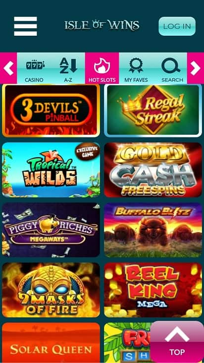 Isle of wins games page