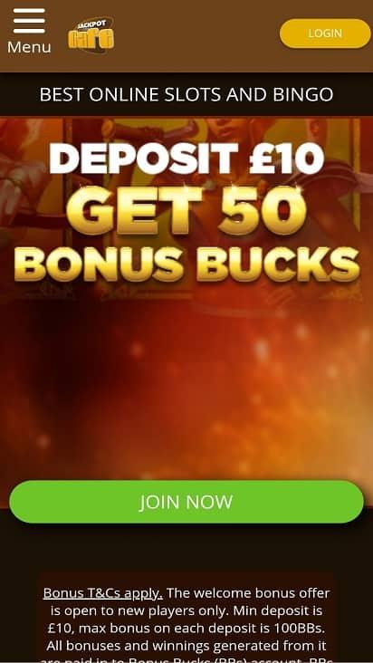 Jackpot cafe home page