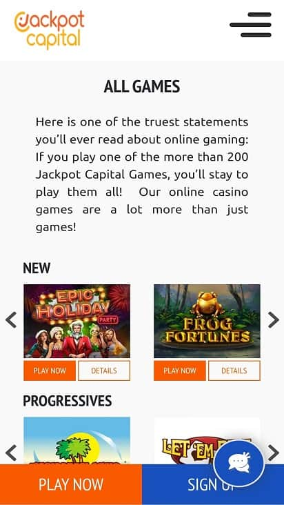 Jackpot capitol games page