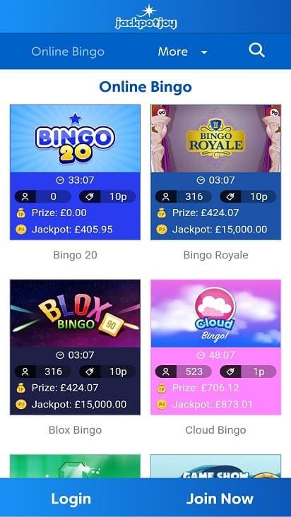 Jackpot joy games page