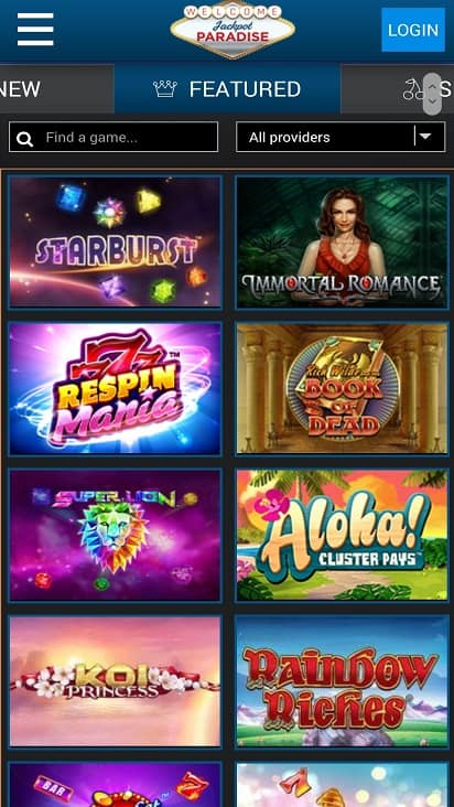 Jackpot paradise games page