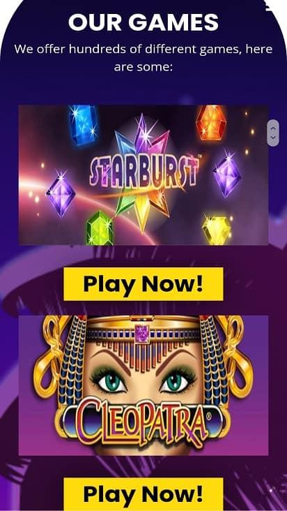 Jackpot slot games page