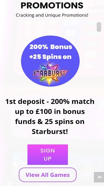 Jackpot slot promotions page