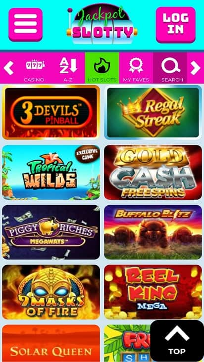 Jackpot slotty games page