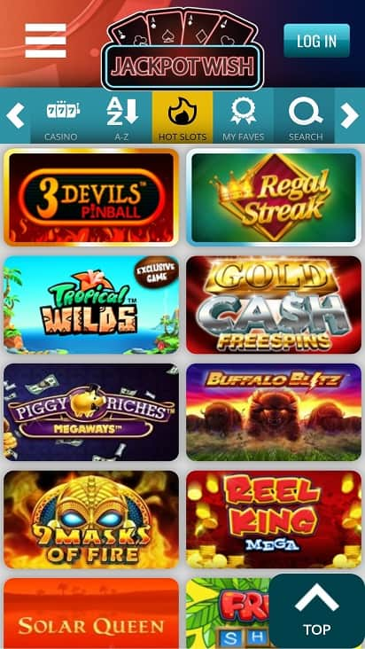 Jackpot wish games page
