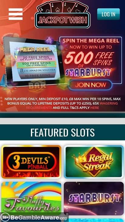 Jackpot wish home page