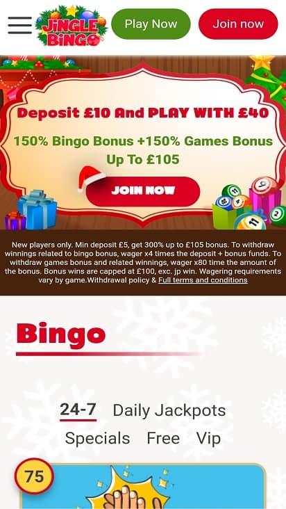 Jingle bingo home page