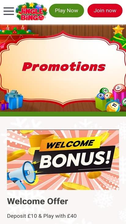 Jingle bingo promotions page