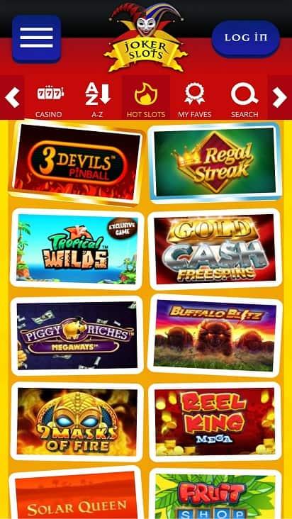 Joker slots games page