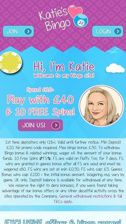Katie's bingo home page