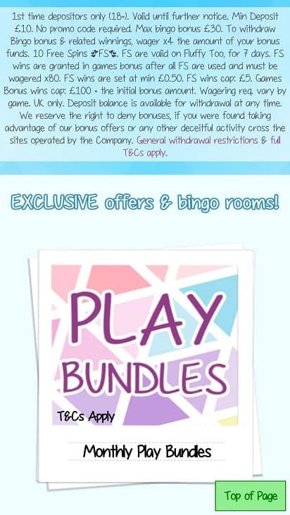 Katie's bingo promotion page
