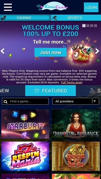 Kimo casino home page