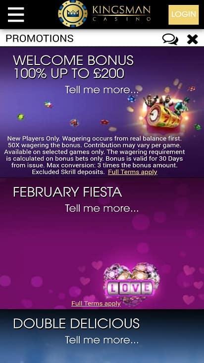 Kingsman promotions page