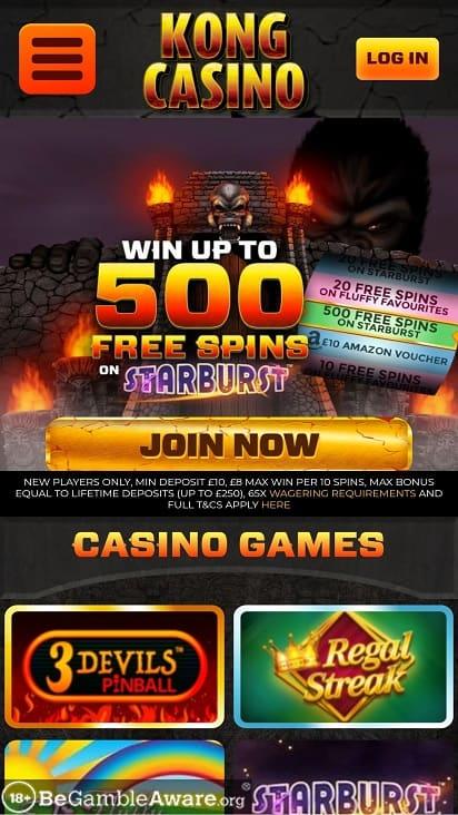 Kong casino home page