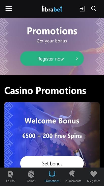 Libra bet promotions page