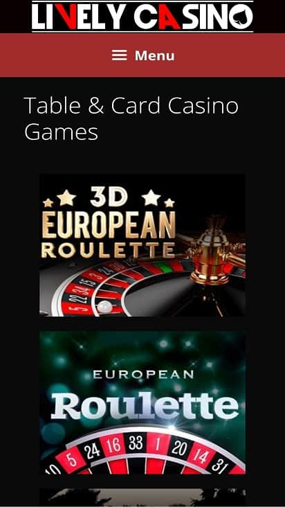 Lively casino games page