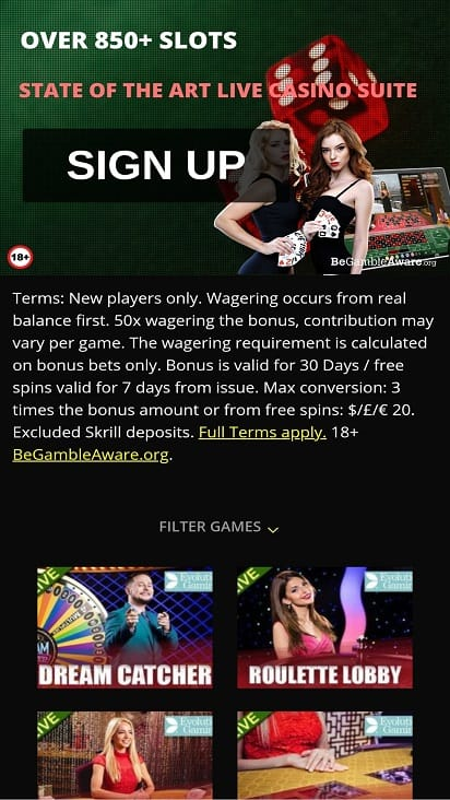 Lively casino promotions page