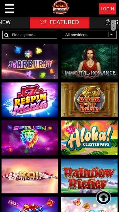 Loyal slots games page