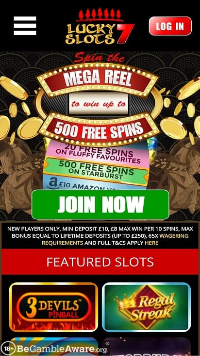 Lucky slots 7 home page