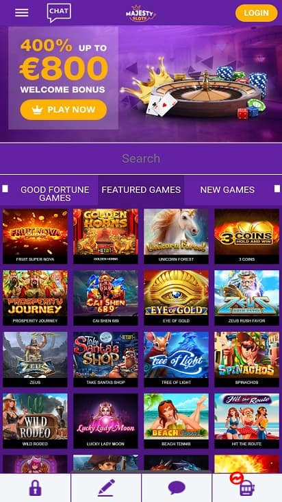 Majesty slots home page