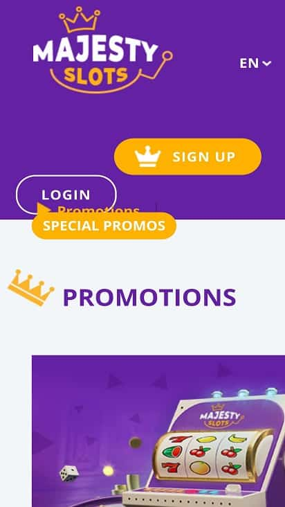 Majesty slots promotions page