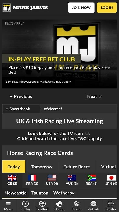 Mark jarvis bet home page