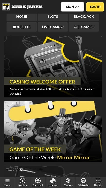 Mark jarvis bet promotion page