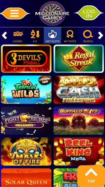 Millionaire games page