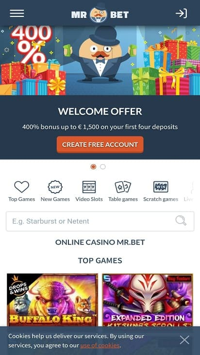 Mr bet home page