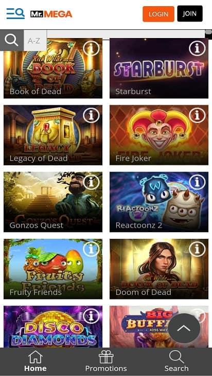 Mr mega games page