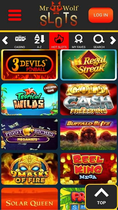 Mr wolf slots games page