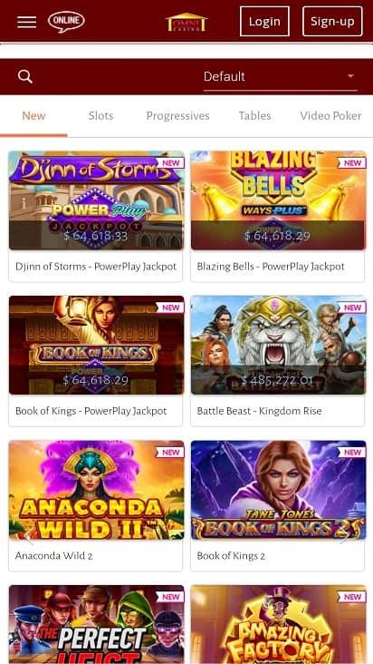 Omni casino games page