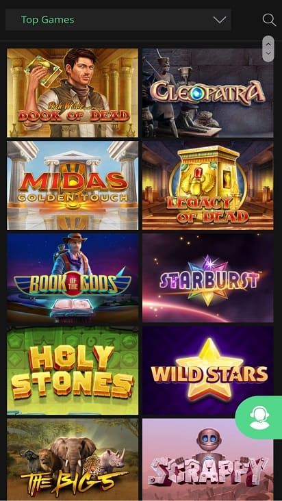One casino Games page