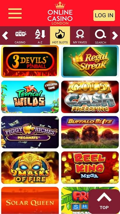 Online casino london games page