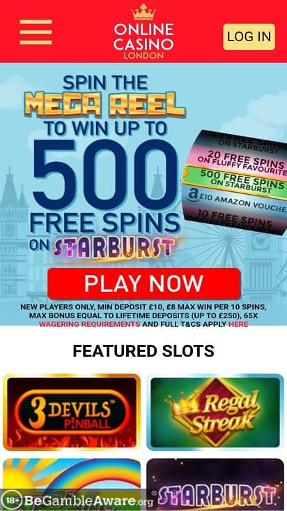 Online casino london home page