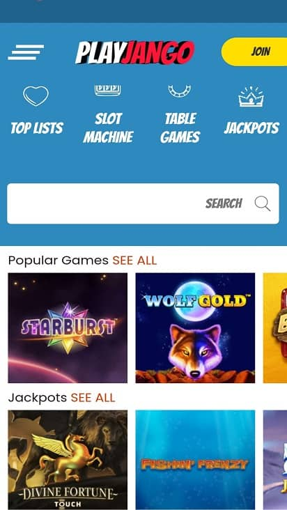 Play jango games page