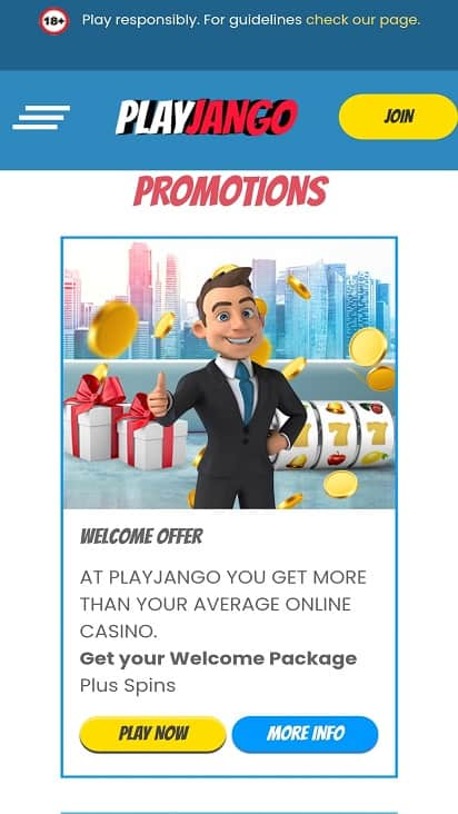 Play jango promotions page