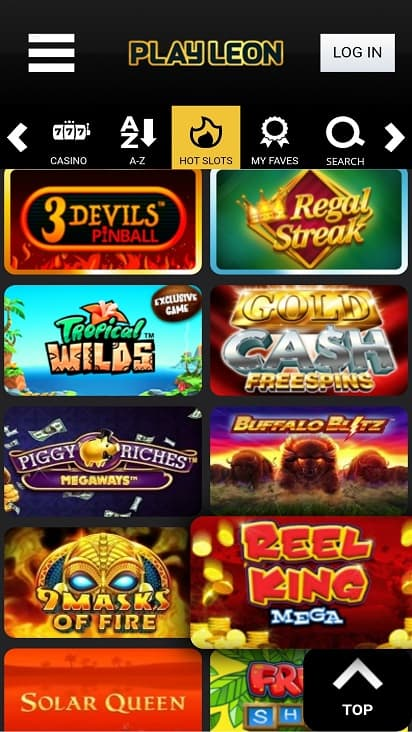 Play leon games page