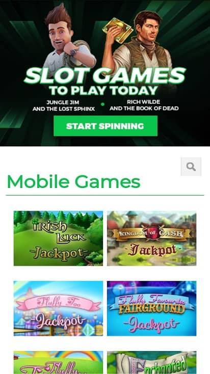 Pocket casino eu games page
