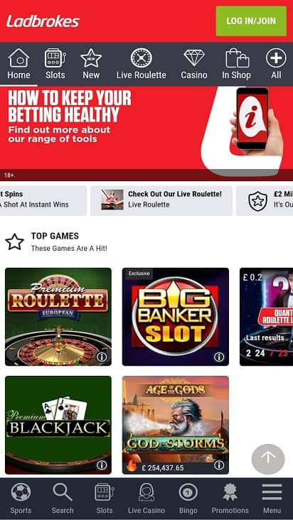 Poker ladbrokes games page