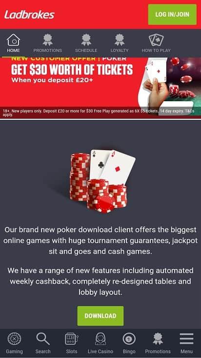 Poker ladbrokes home page