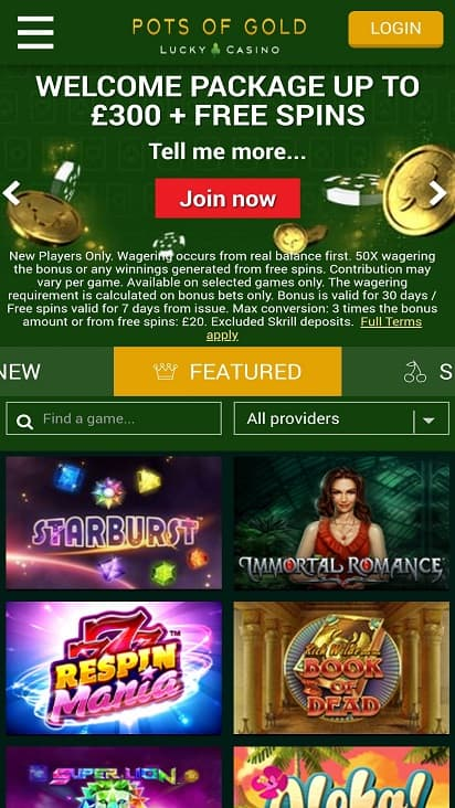 Pots of gold home page