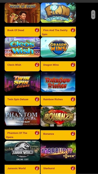 Pound slots games page