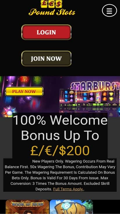Pound slots home page